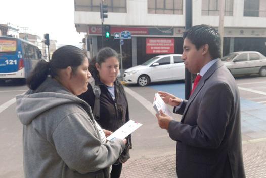 Distribuyen folletería en el Juzgado del Trabajo de Antofagasta y la Inspección Provincial del Trabajo