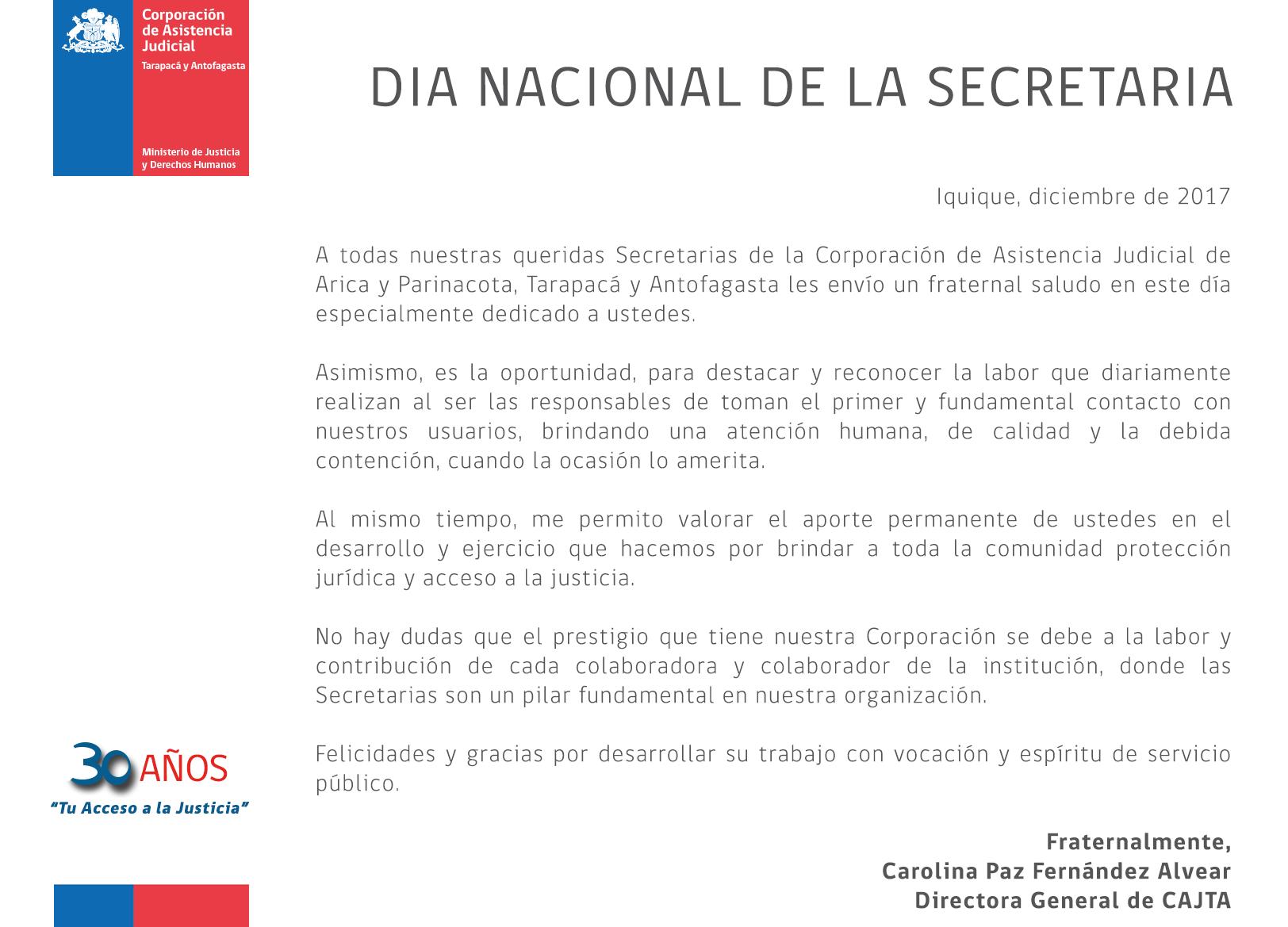 Día Nacional de la Secretaria