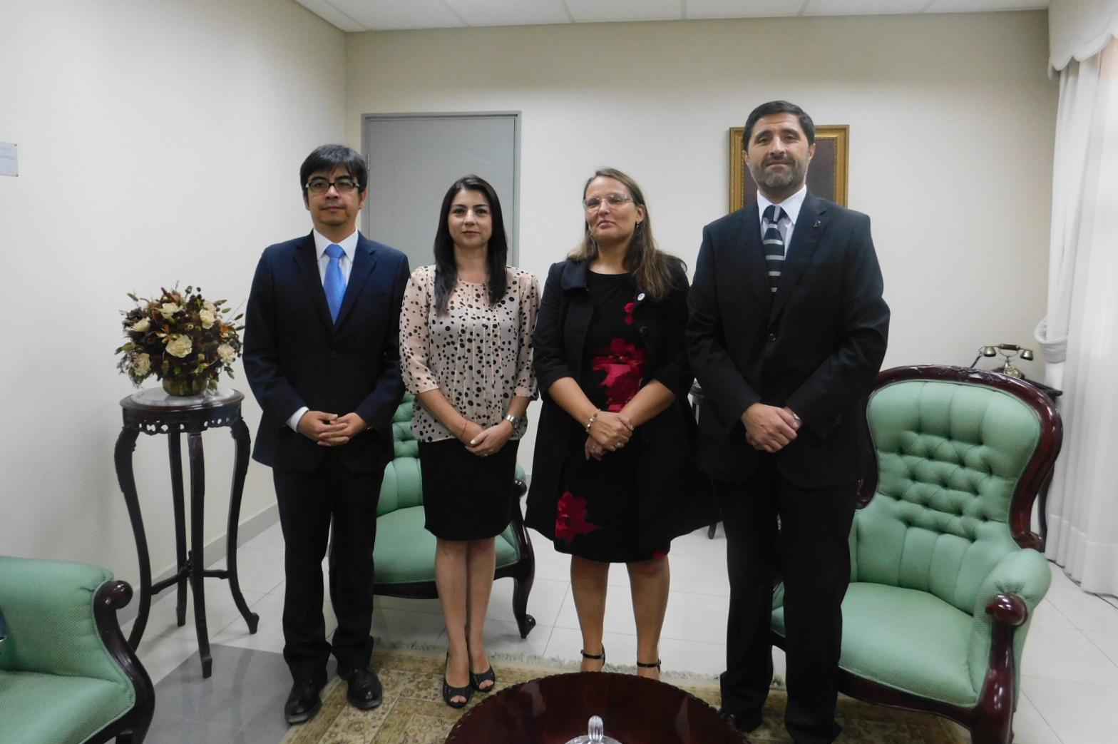 Realizan visita protocolar al Presidente de la Corte de Apelaciones de Iquique