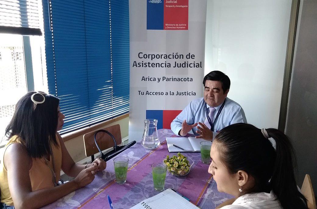 Consultorio Jurídico Arica y Servicio Jesuita al Migrante Acuerdan Trabajo en Red