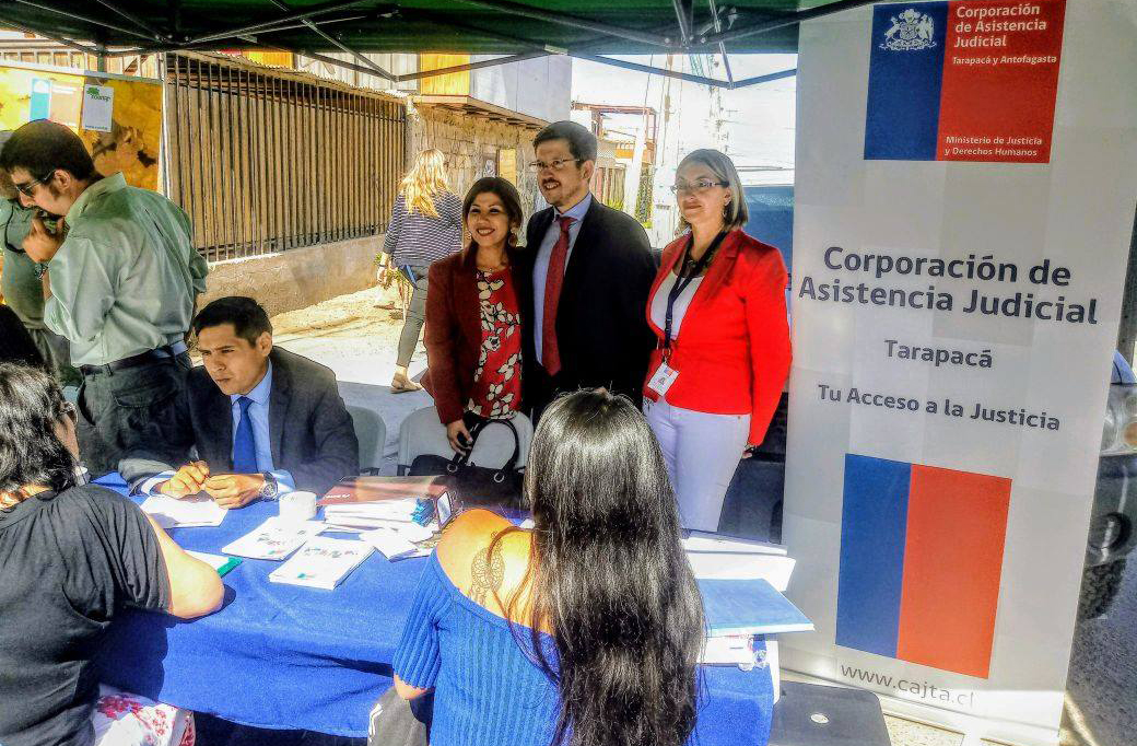 """CAJTA Brindó Atención Jurídica y Social en 2° Plaza del Programa """"Tu Gobierno Presente 2018"""" en Alto Hospicio"""