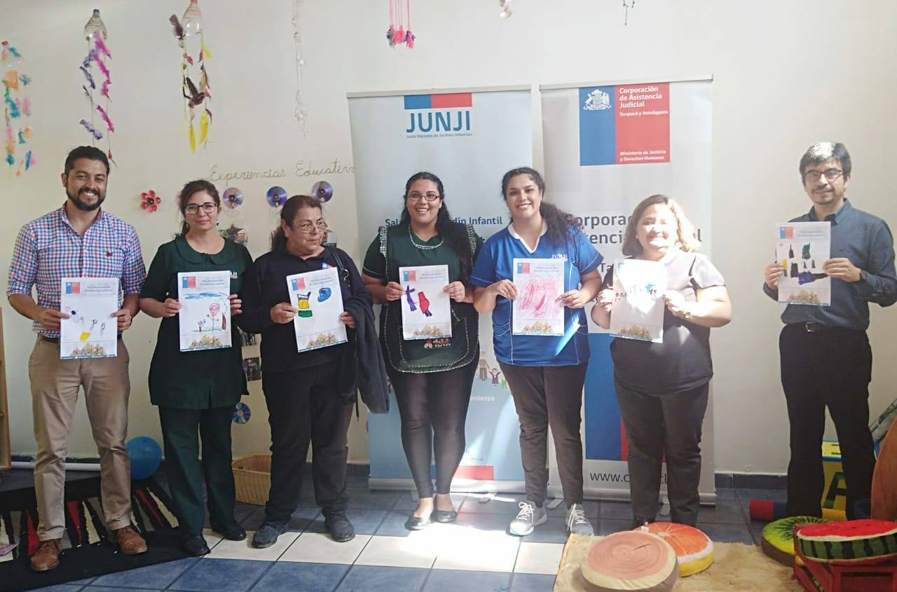 El Consultorio Jurídico Iquique realizó una jornada recreativa en el Jardín Infantil Los Guayabitos