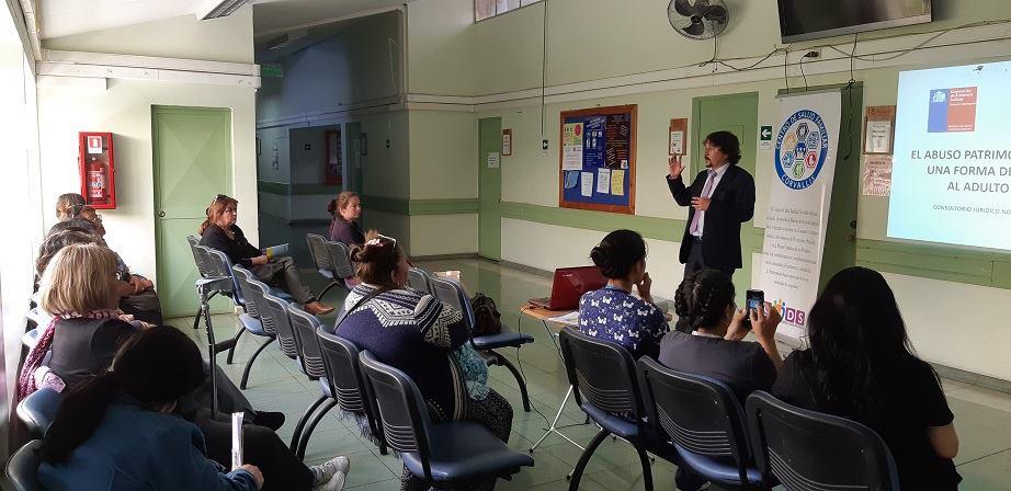 Consultorio Jurídico Antofagasta Norte llevó a cabo una segunda charla informativa al PAD CESFAM Corvallis