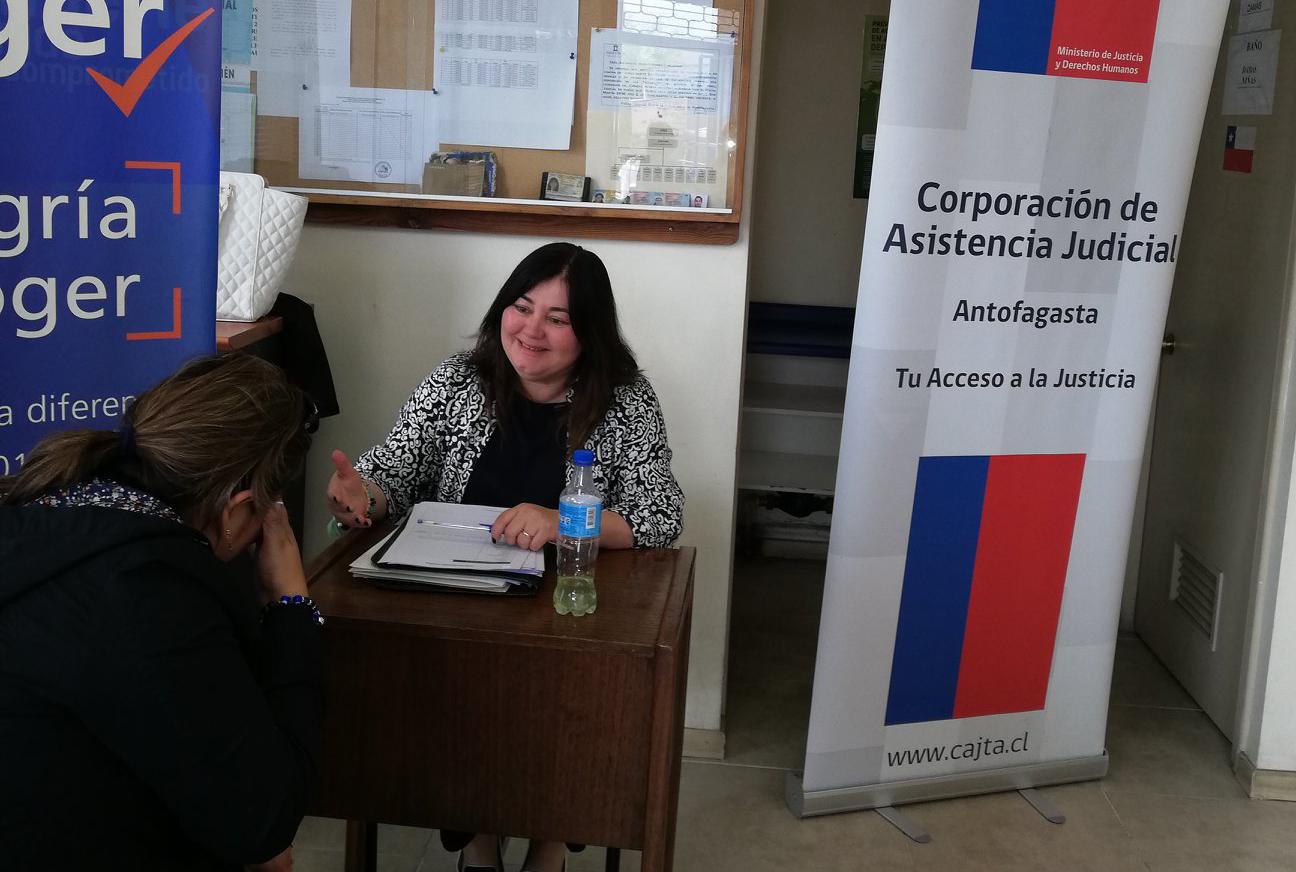 Consultorio Jurídico de Tocopilla llevó adelante una jornada de atención en terreno