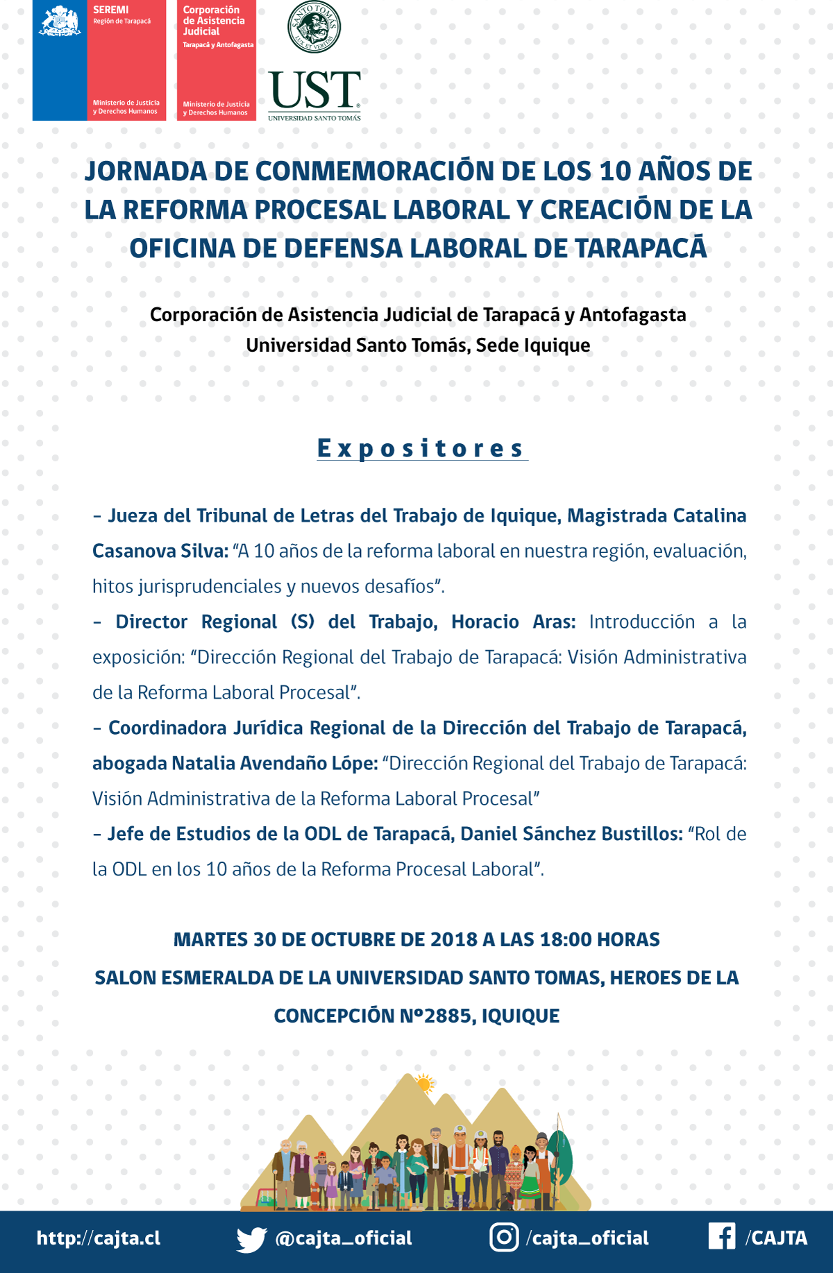 Jornada de conmemoración de los 10 años de la Reforma Procesal Laboral y Creación de la ODL de Tarapacá
