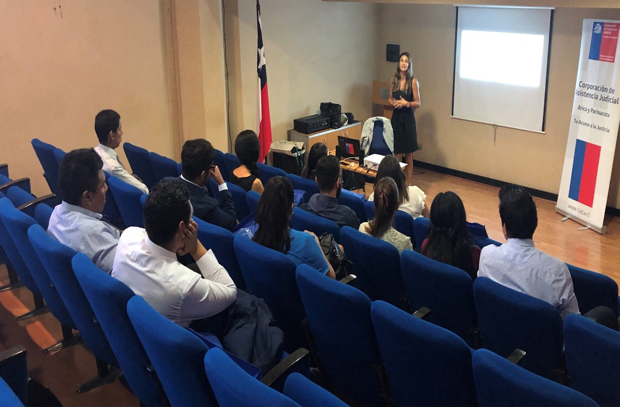 Convenio CAJTA-SENADIS de Arica realiza primera charla sobre derechos de las personas con discapacidad