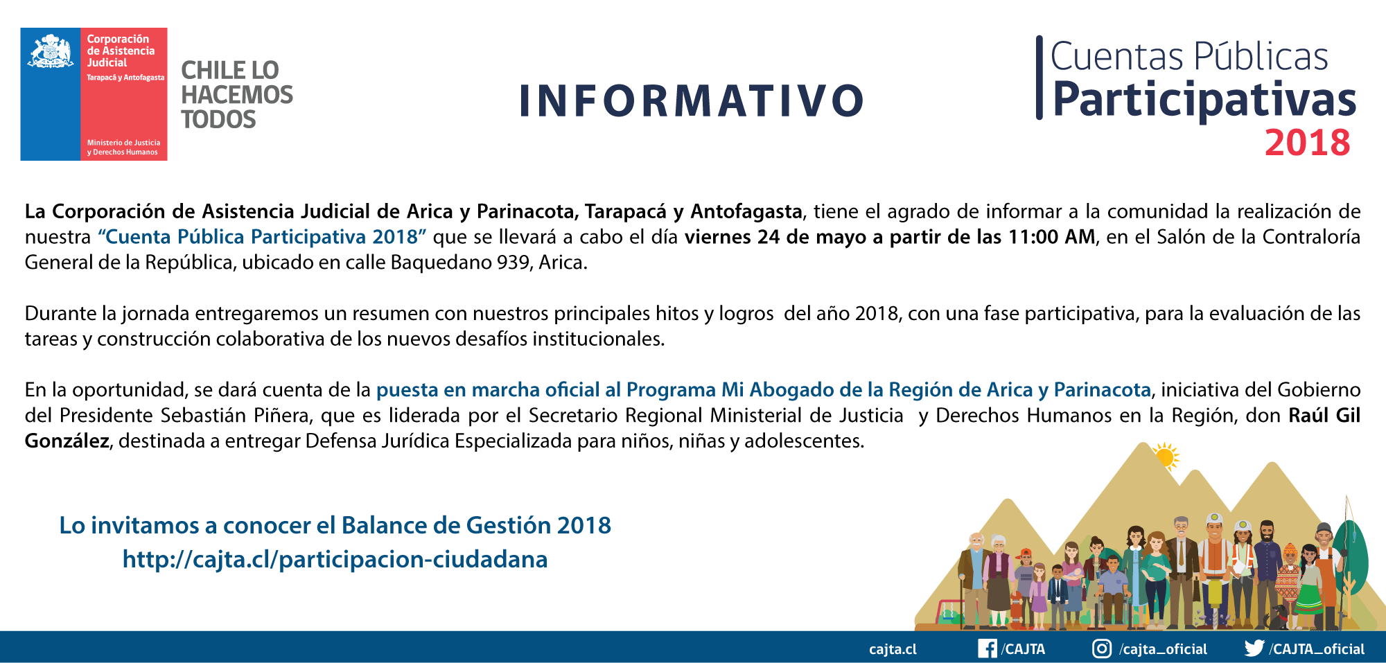 Informativo Cuenta Pública Participativa 2018