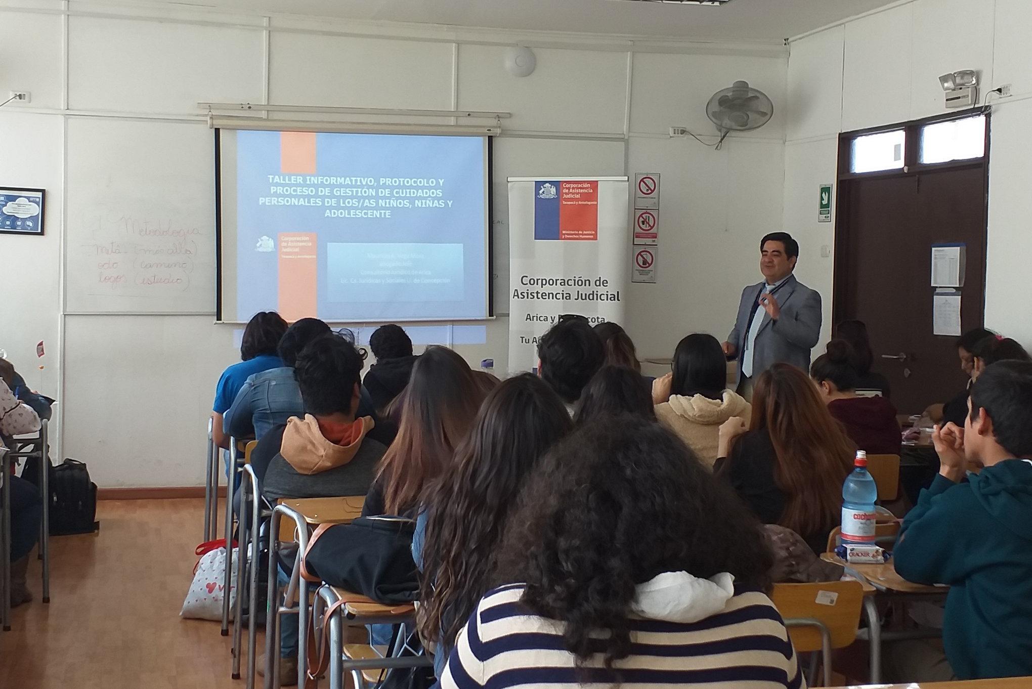 Consultorio Jurídico de Arica realiza charla en Universidad de Tarapacá
