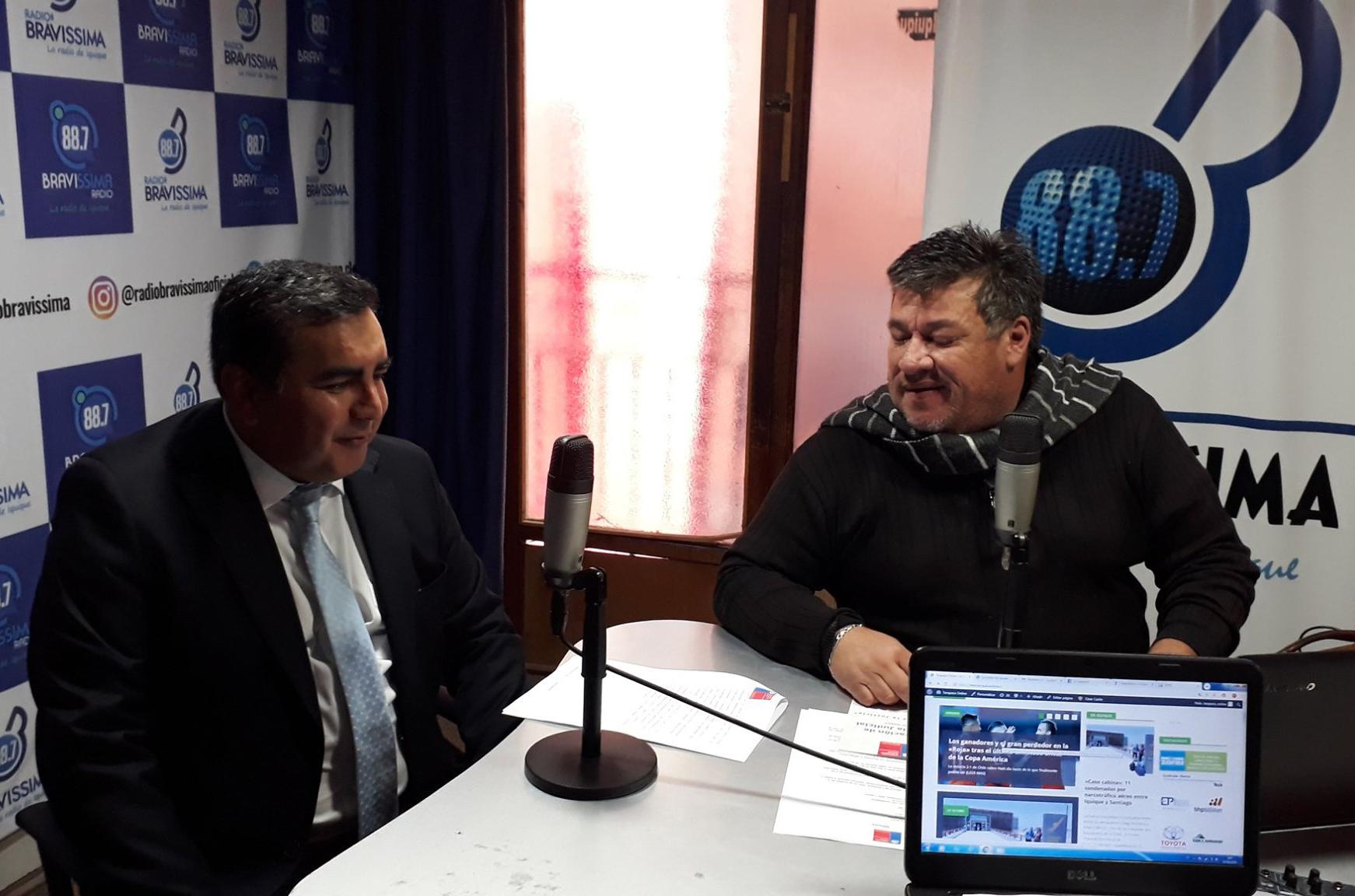 Oficina de Defensa Laboral de Tarapacá llega a Radio Bravissima
