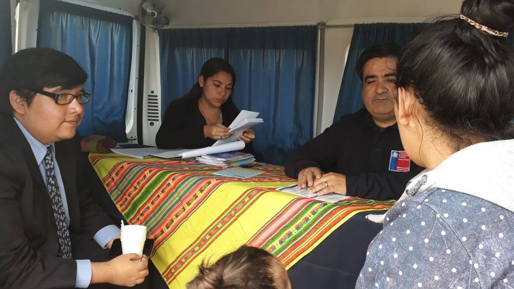 Consultorio Jurídico de Arica presente en Gobierno en Terreno