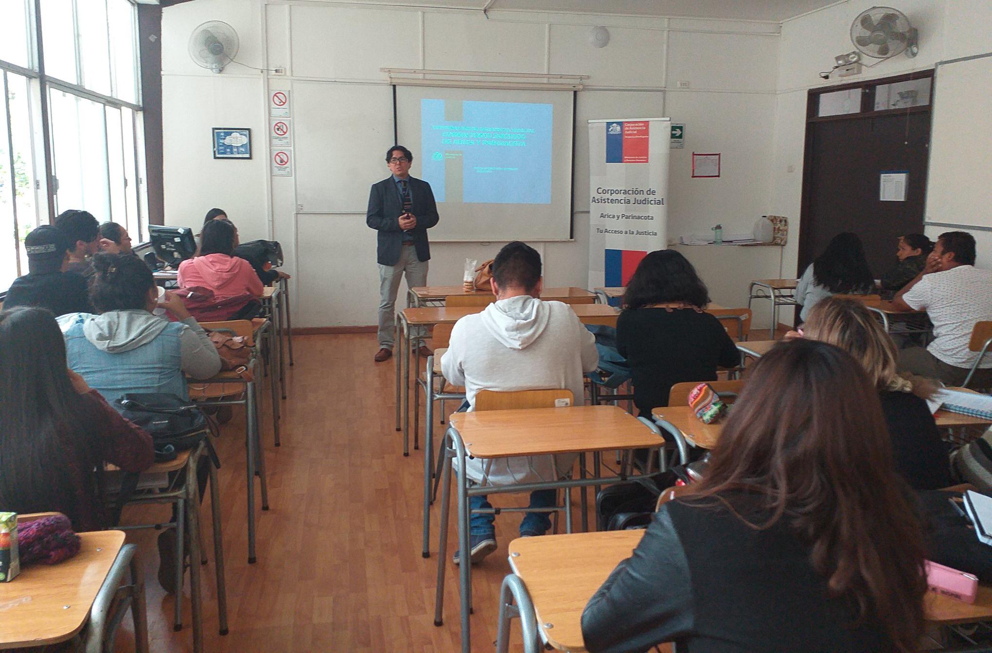 Consultorio Jurídico de Arica realiza charla sobre interdicción