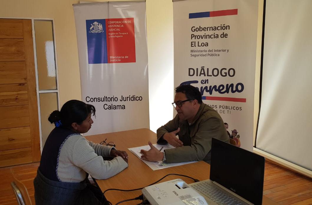 Consultorio Jurídico de Calama participa en Gobierno en Terreno en Ollagüe