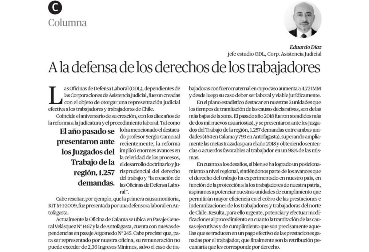 Visualizan a las Corporaciones en Diario El Mercurio de Calama