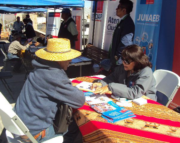 En la localidad de Putre, situdada a 3550 metros de altura, CAJTA Participó en el Gobierno Presente Organizado por la Gobernación de Parinacota