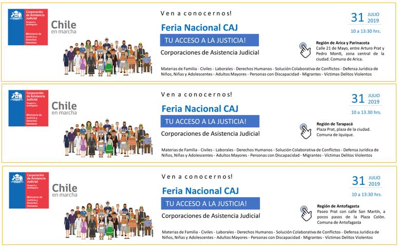 Feria Nacional de las Corporaciones de Asistencia Judicial