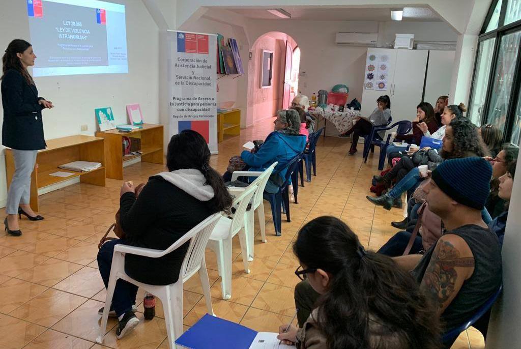 Abogada del convenio CAJTA-SENADIS de Arica y Parinacota realiza charla a los monitores de las residencias y hogares protegidos