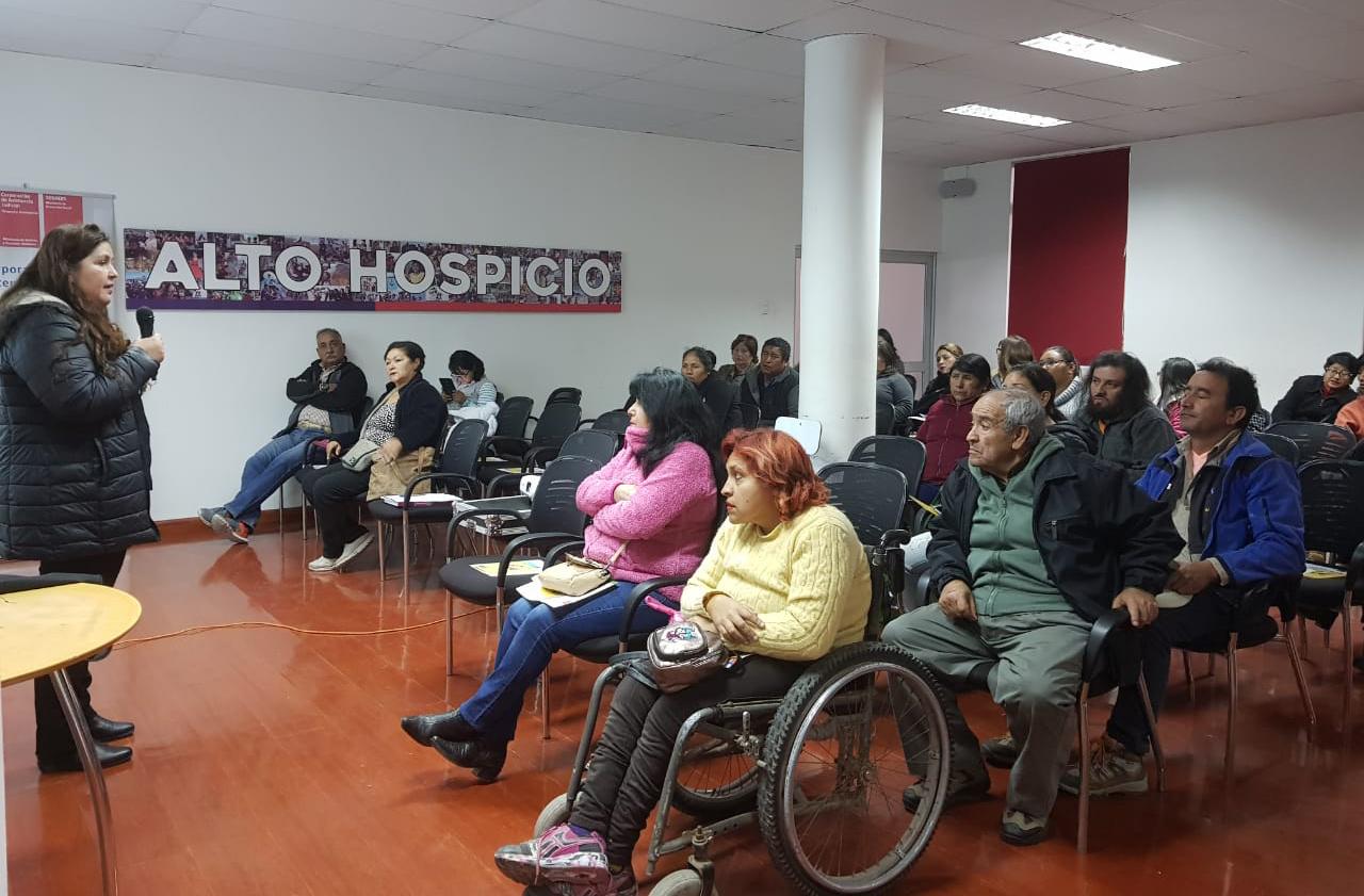 Abogada CAJTA SENADIS visualiza las CAJ en Alto Hospicio