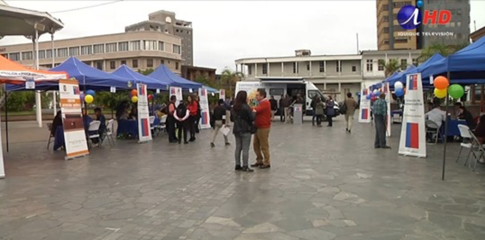 Iquique TV informa a la comunidad sobre la Primera Feria Nacional de las CAJ,
