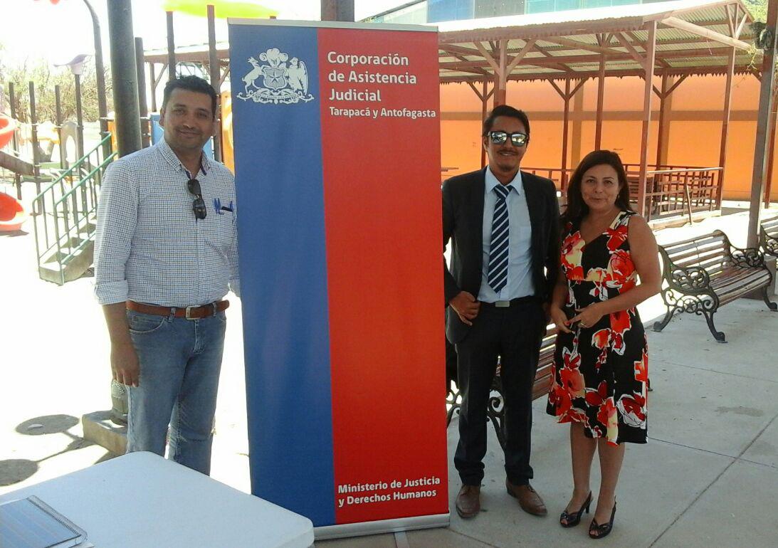 CAJTA con su Consultorio Jurídico Móvil Participa en Plaza de Justicia en Huara