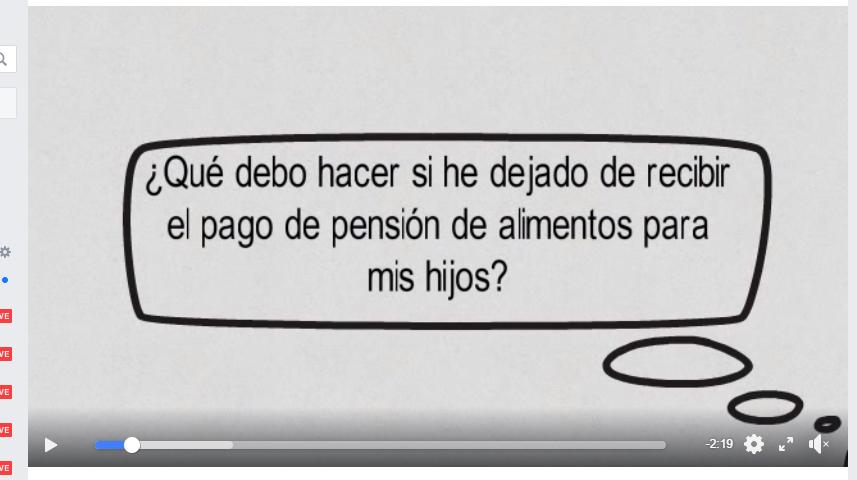 Vídeo sobre pensión de alimentos