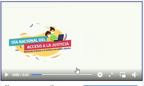 Con nuestro vídeo te invitamos a la Maratón por el Acceso a la Justicia