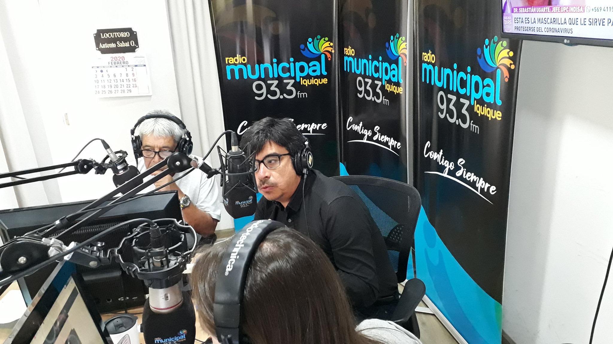 Director Regional de Tarapacá participa en programa de Radio Municipal 93.3 FM