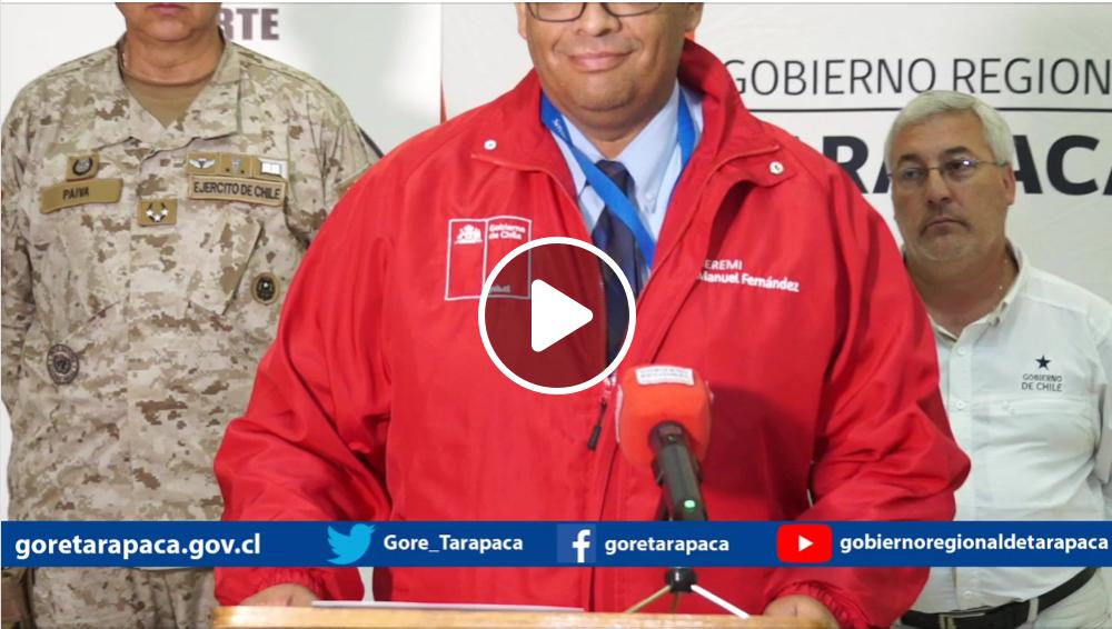 Publicación en Facebook de Gobierno Regional de Tarapacá
