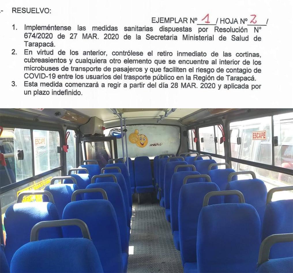 Publicación en Facebook de Seremi de Transportes y Telecomunicaciones de Tarapacá