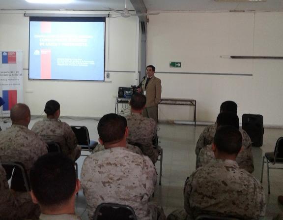 Consultorio Jurídico Arica da inicio a ciclo de charlas a funcionarios del Ejército de Chile