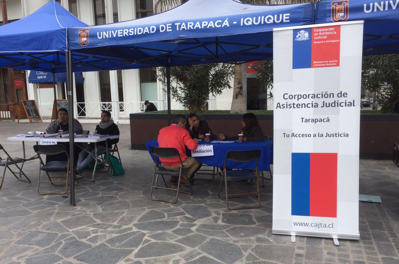 Centro de Mediación participa en Plaza Ciudadana organizada por la Universidad de Tarapacá