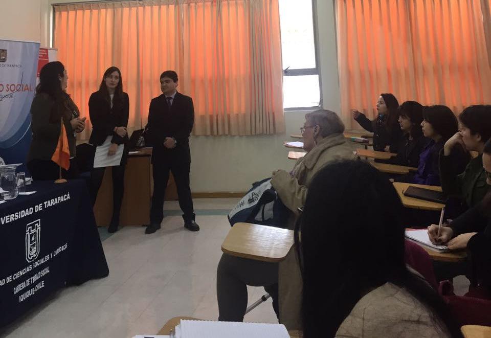 Centro de Familia dicta charla en Universidad de Tarapacá